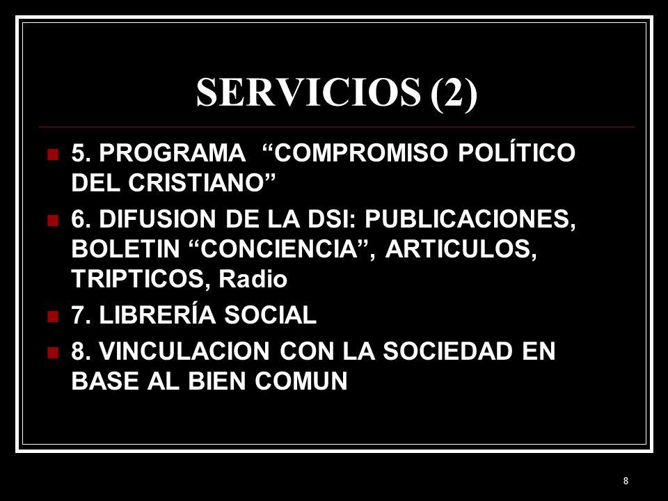 SERVICIOS (2) 5. PROGRAMA COMPROMISO POLÍTICO DEL CRISTIANO