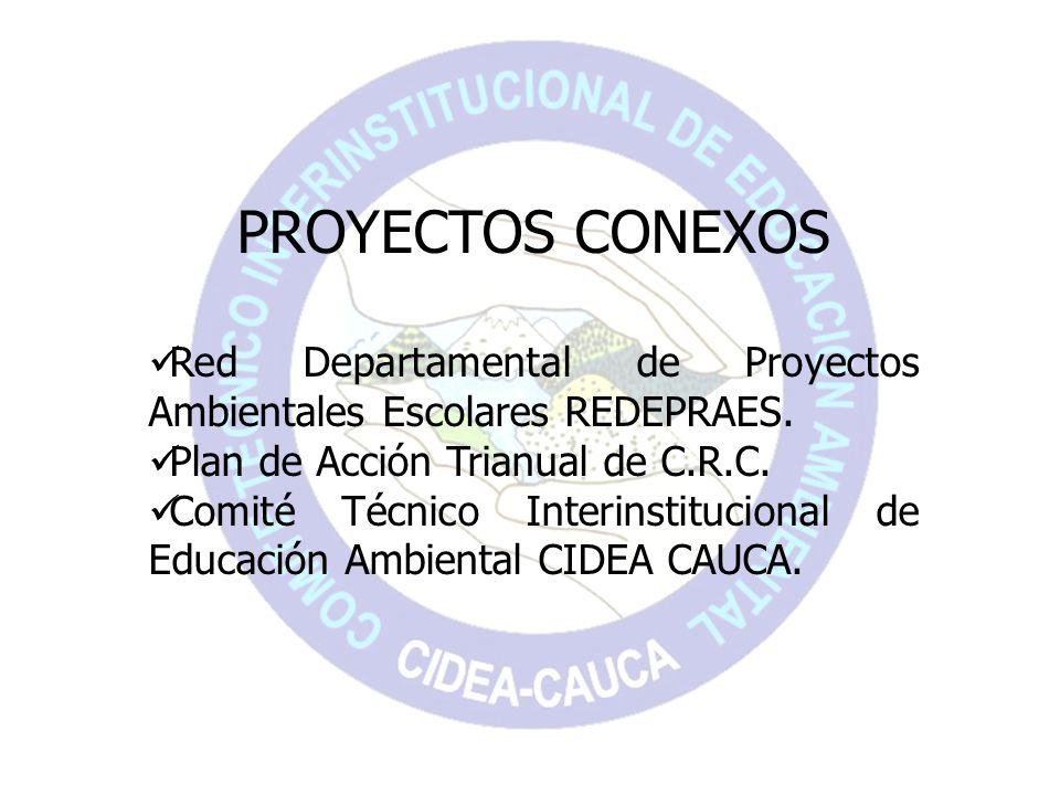 PROYECTOS CONEXOSRed Departamental de Proyectos Ambientales Escolares REDEPRAES. Plan de Acción Trianual de C.R.C.