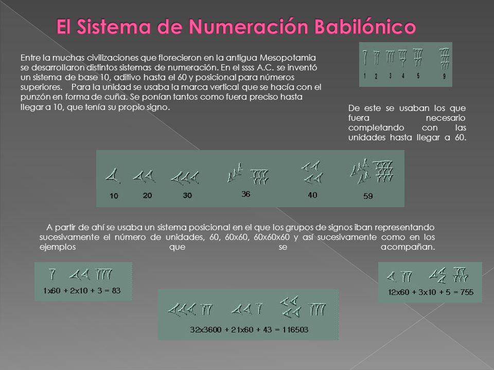 El Sistema de Numeración Babilónico