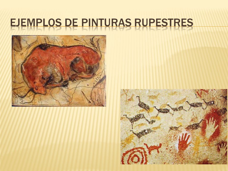 Ejemplos de pinturas rupestres