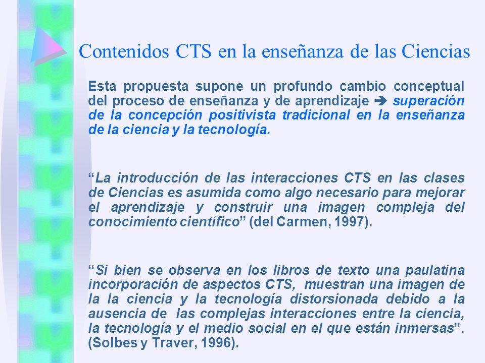 Contenidos CTS en la enseñanza de las Ciencias