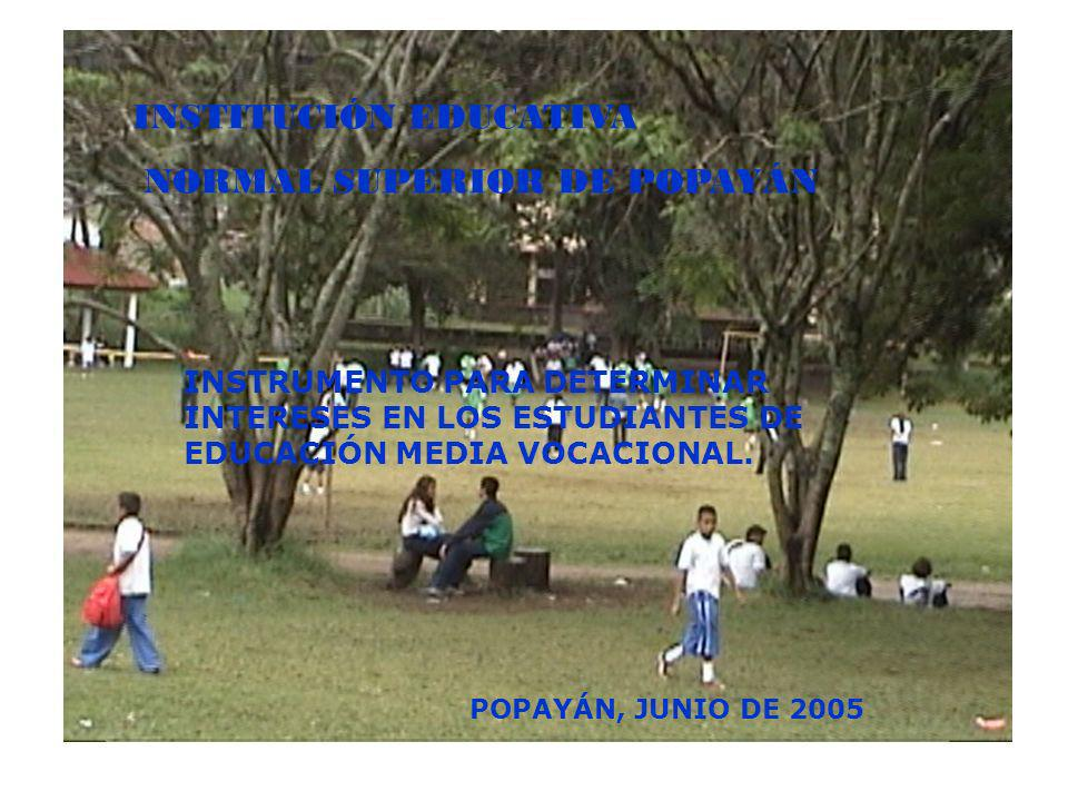 INSTITUCIÓN EDUCATIVA NORMAL SUPERIOR DE POPAYÁN