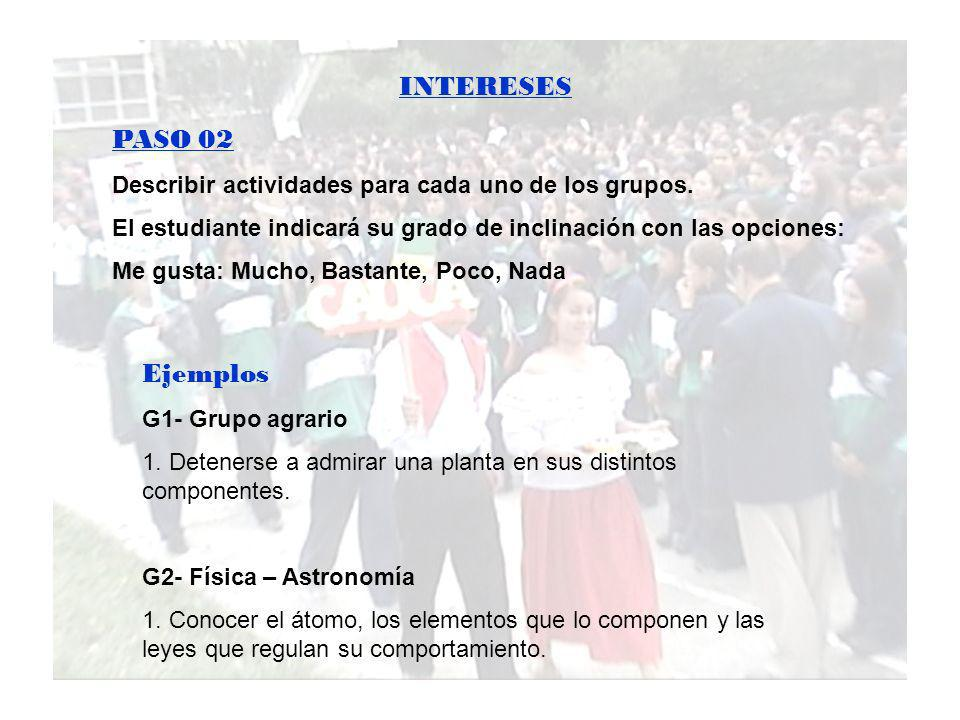 INTERESES PASO 02 Ejemplos