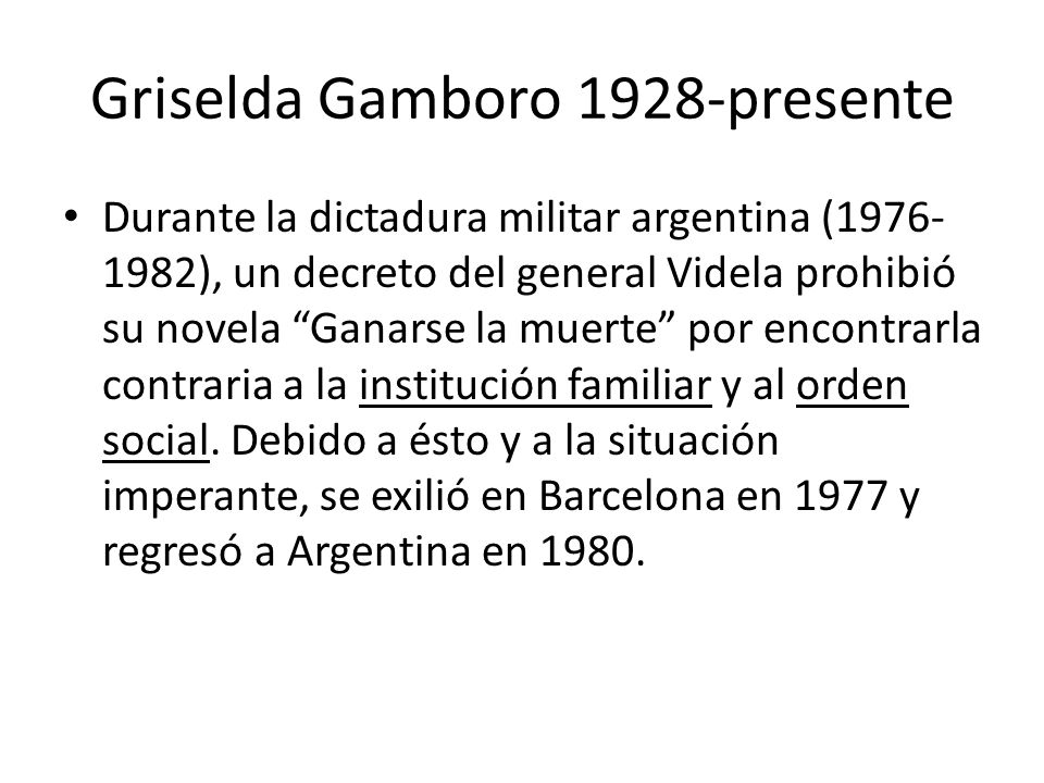 Griselda Gamboro 1928-presente