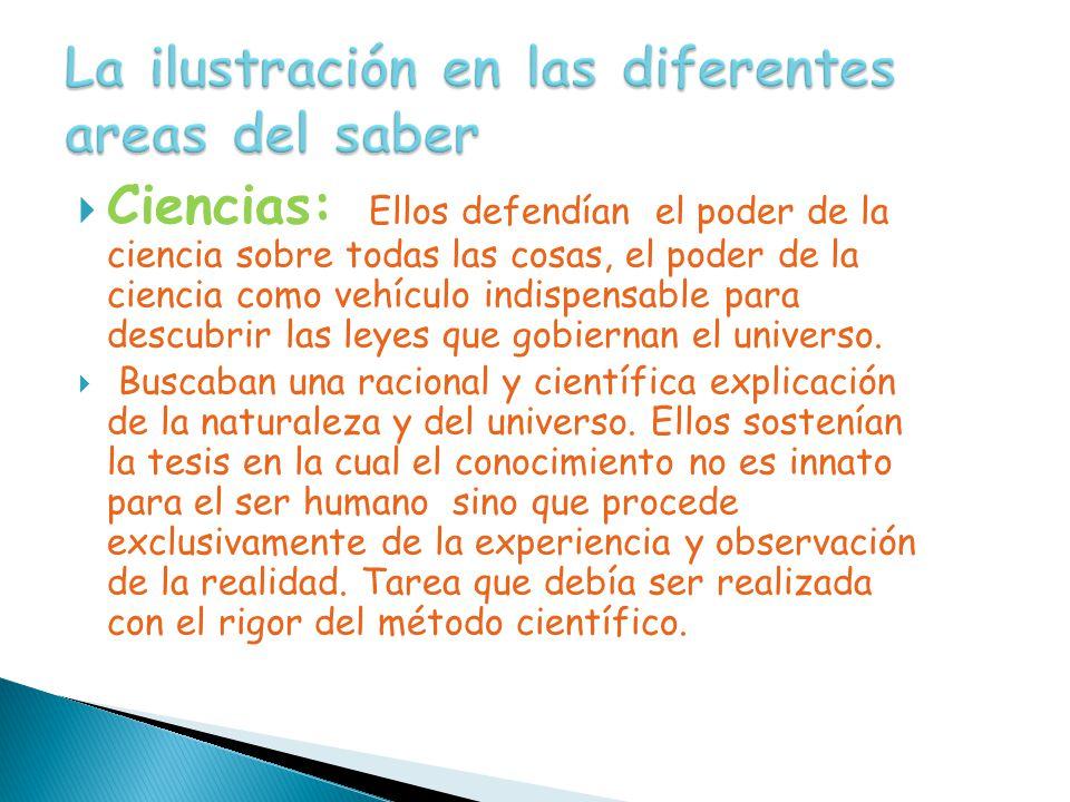 La ilustración en las diferentes areas del saber