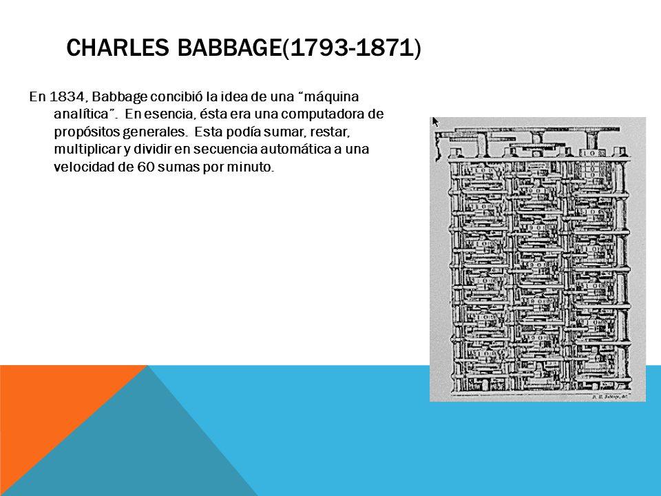 Charles Babbage(1793-1871)