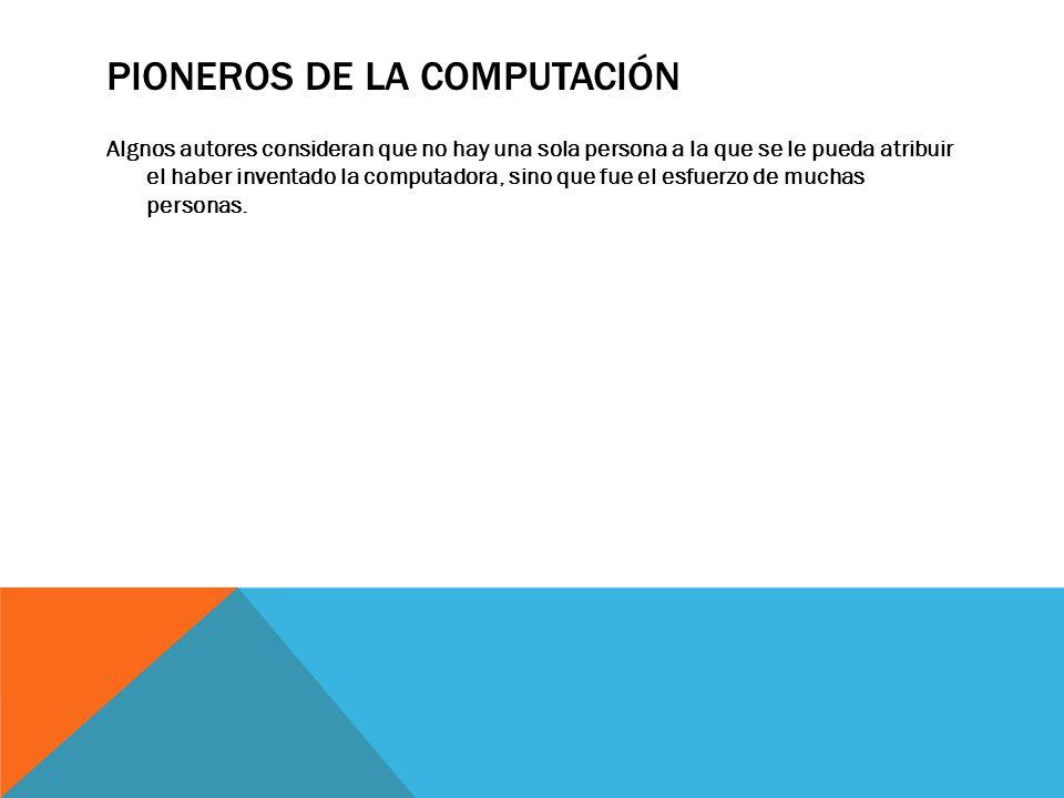 Pioneros de la Computación