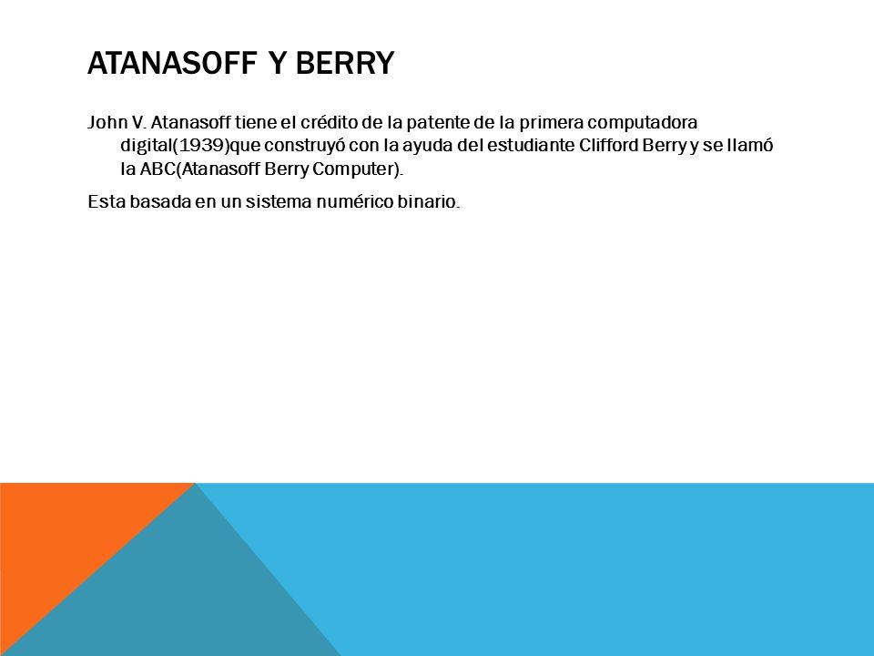 Atanasoff y Berry