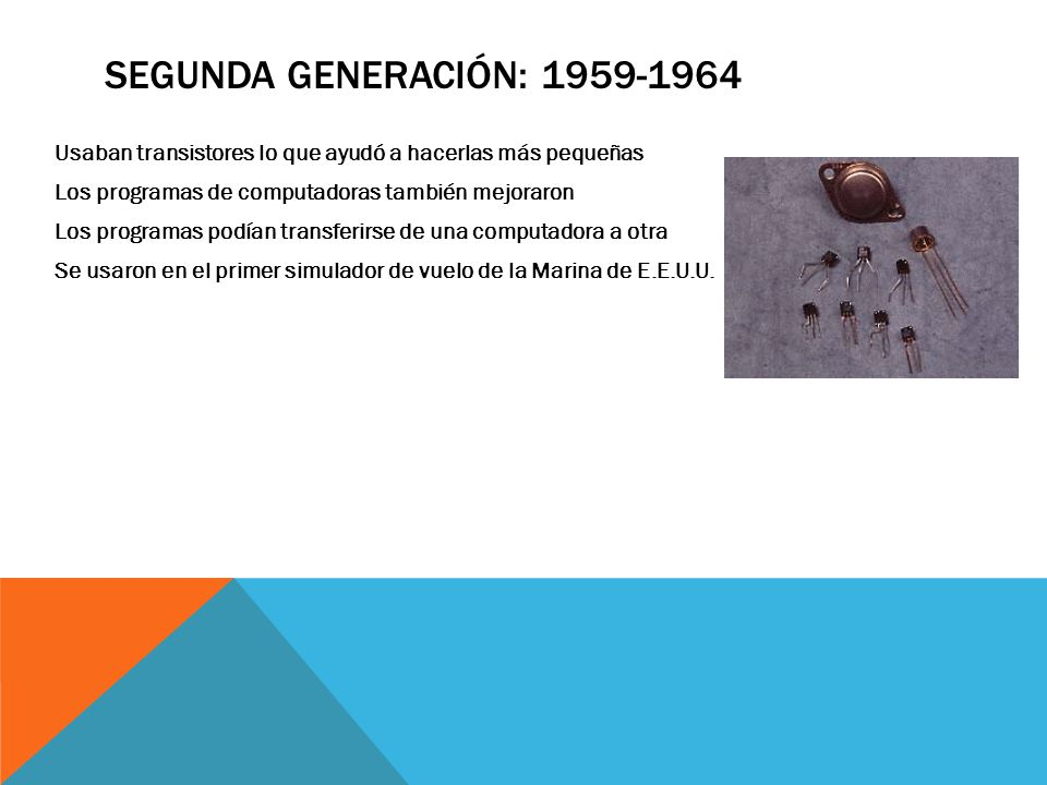 Segunda Generación: 1959-1964