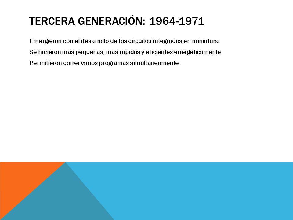 Tercera Generación: 1964-1971