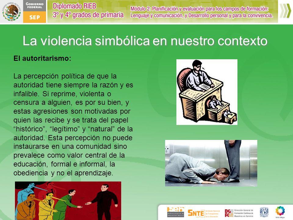 La violencia simbólica en nuestro contexto