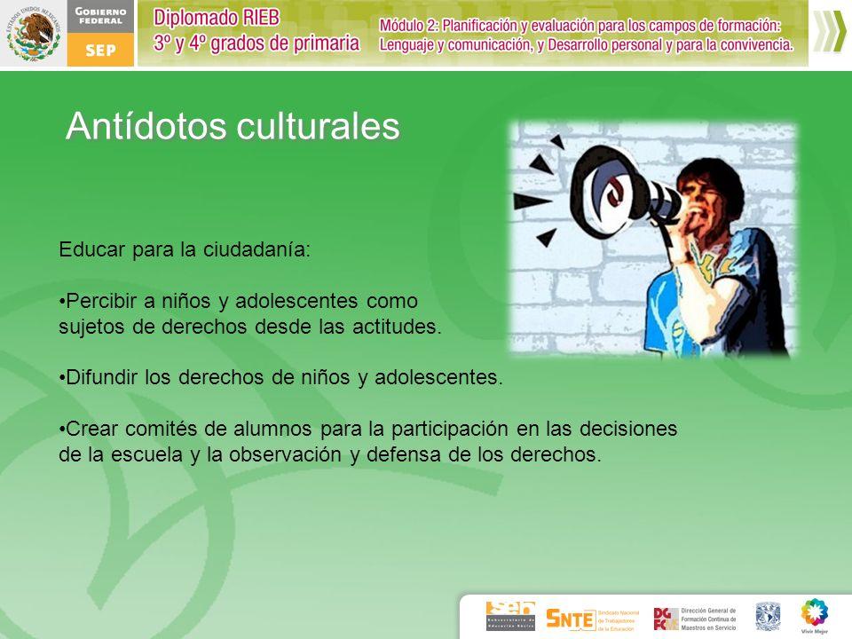 Antídotos culturales Educar para la ciudadanía: