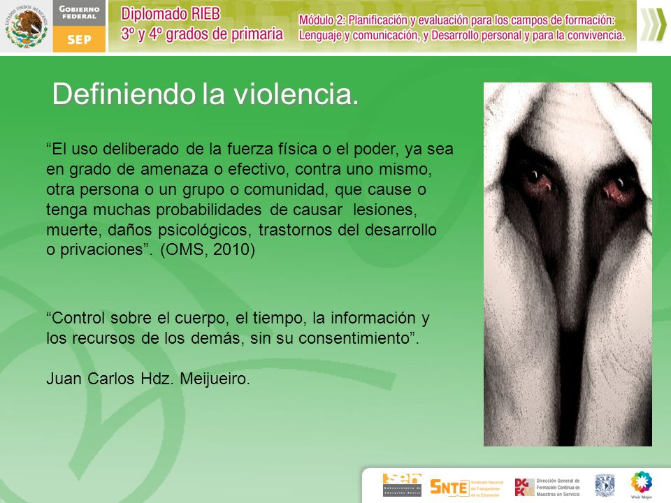 Definiendo la violencia.
