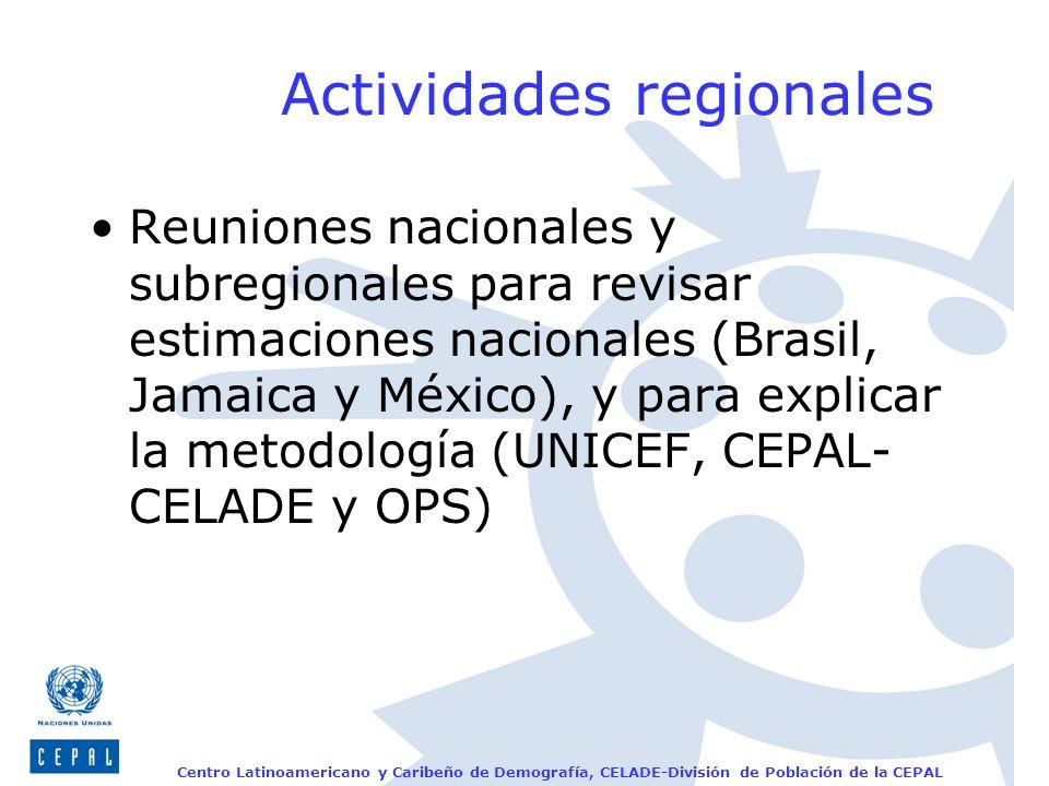Actividades regionales