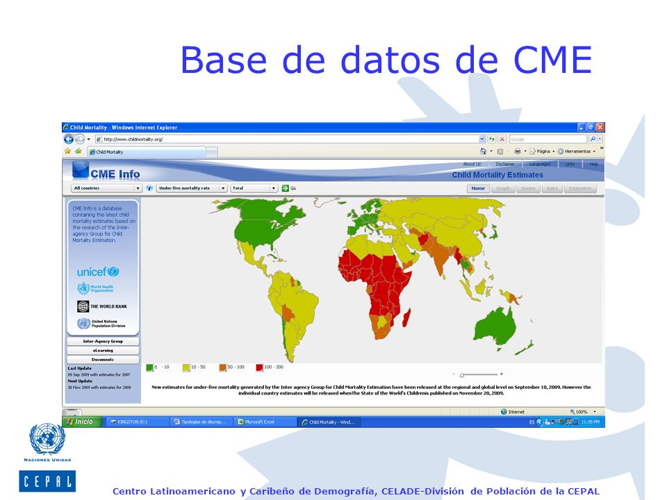 Base de datos de CME