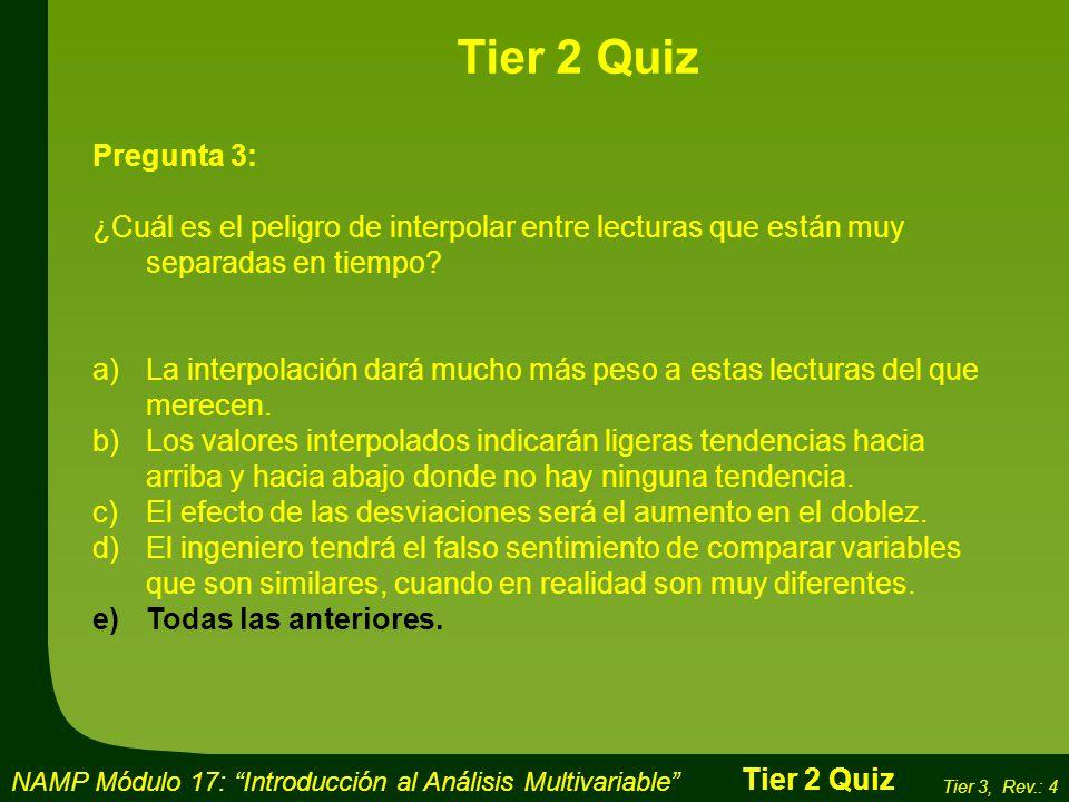 Tier 2 Quiz Pregunta 3: ¿Cuál es el peligro de interpolar entre lecturas que están muy separadas en tiempo