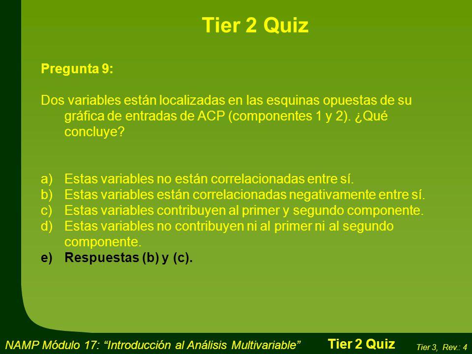 Tier 2 Quiz Pregunta 9: