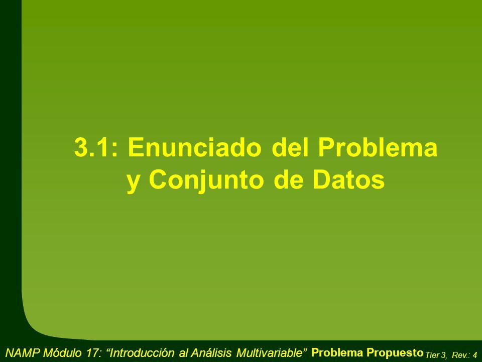 3.1: Enunciado del Problema y Conjunto de Datos
