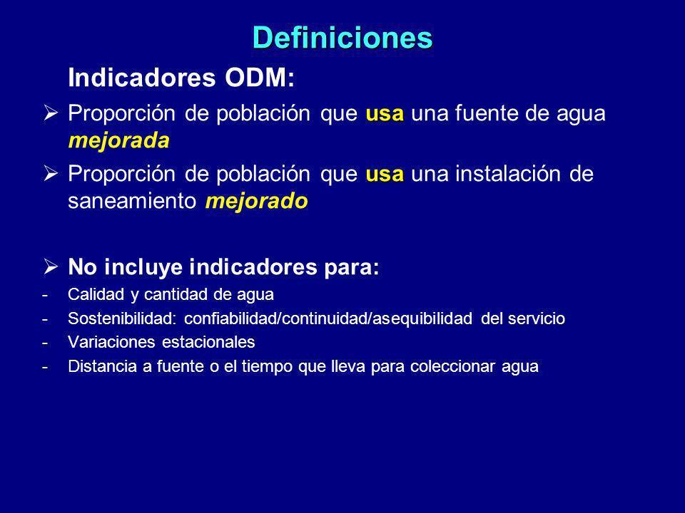 Definiciones Indicadores ODM: