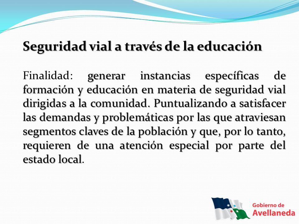Seguridad vial a través de la educación