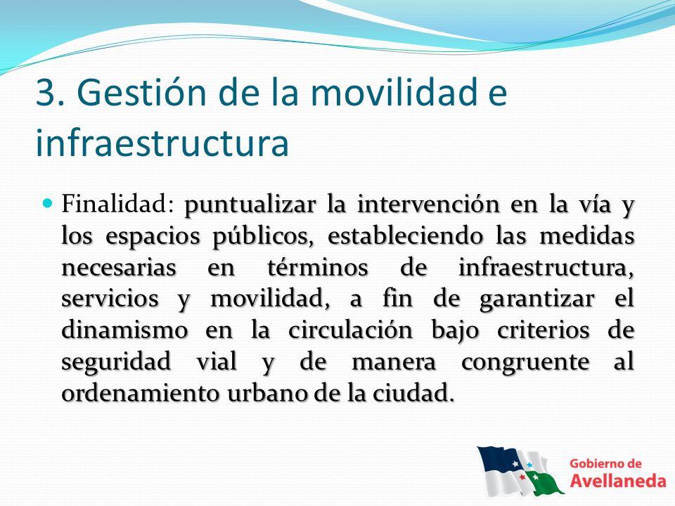 3. Gestión de la movilidad e infraestructura