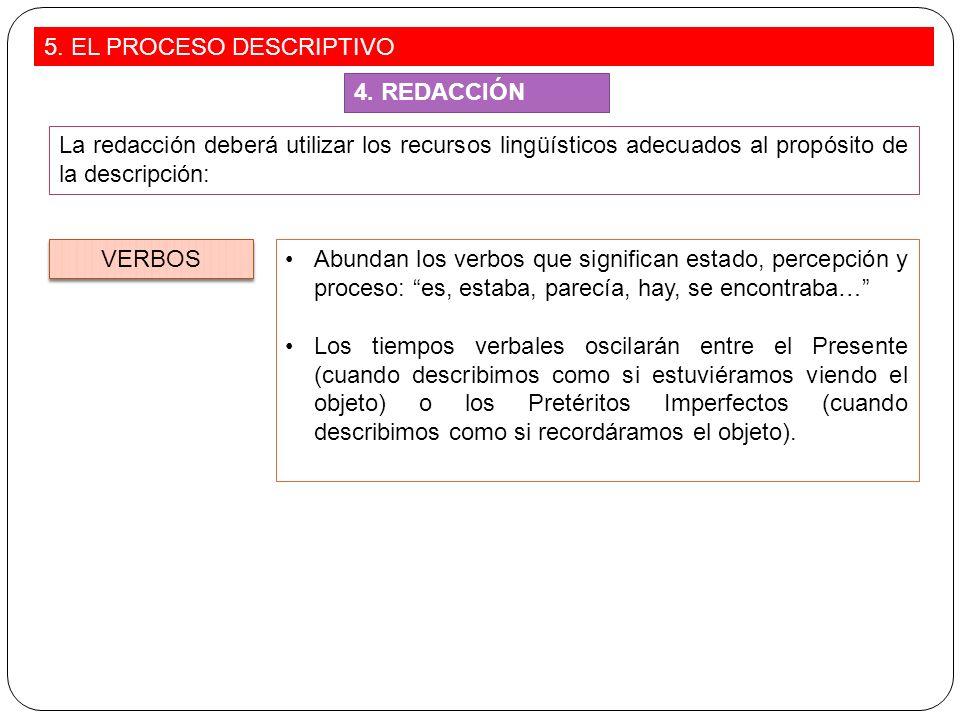 5. EL PROCESO DESCRIPTIVO
