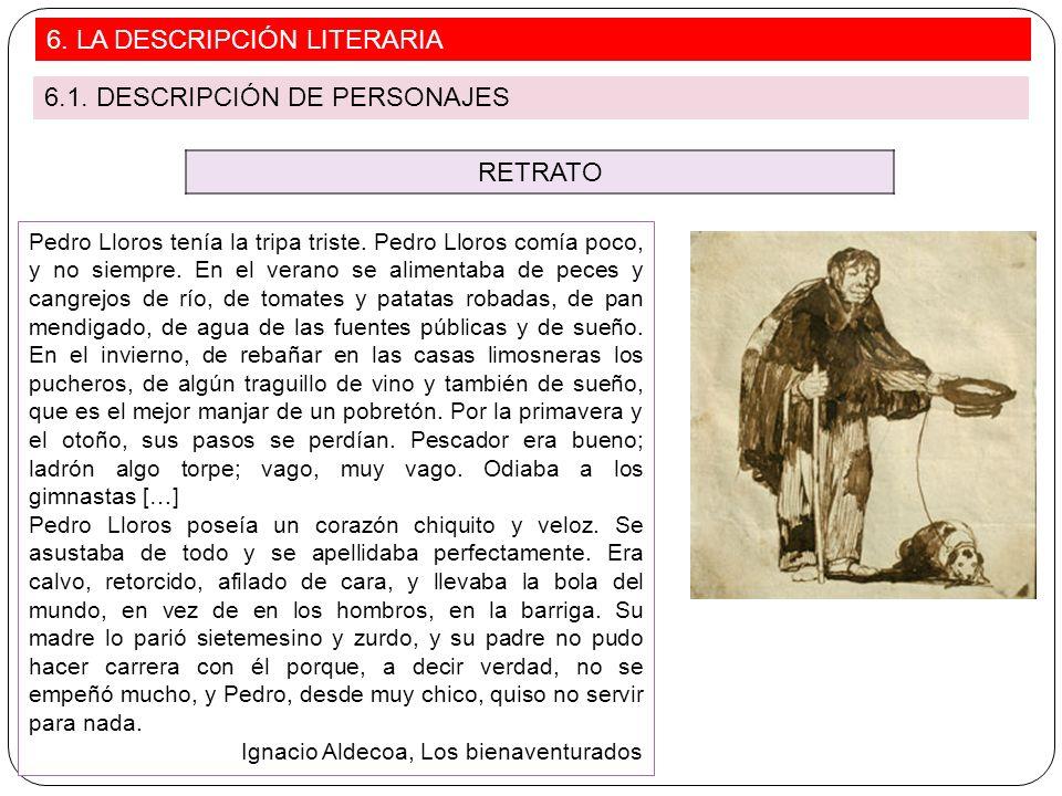 6. LA DESCRIPCIÓN LITERARIA