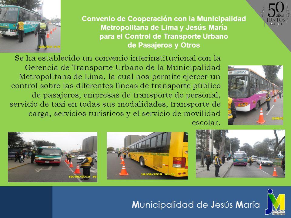 para el Control de Transporte Urbano
