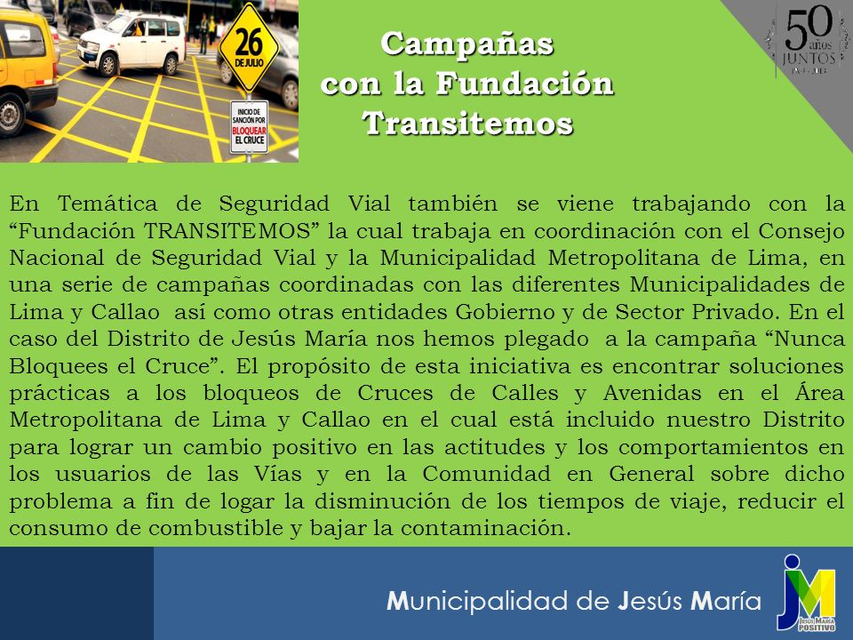 Campañas con la Fundación Transitemos