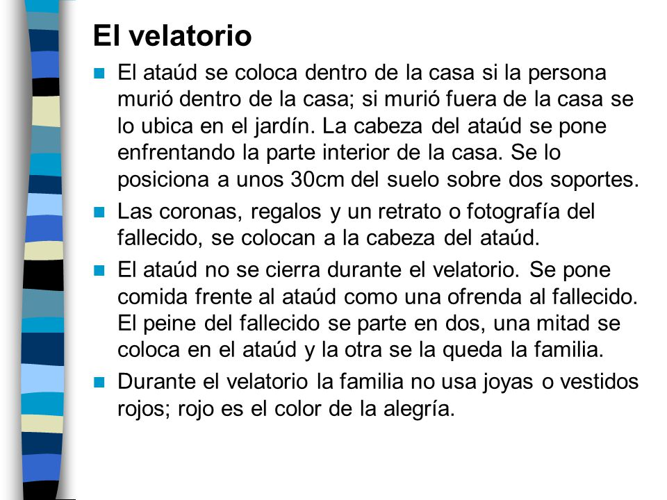 El velatorio