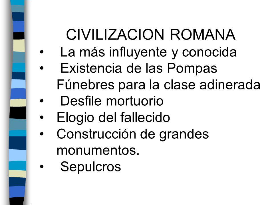 CIVILIZACION ROMANA La más influyente y conocida
