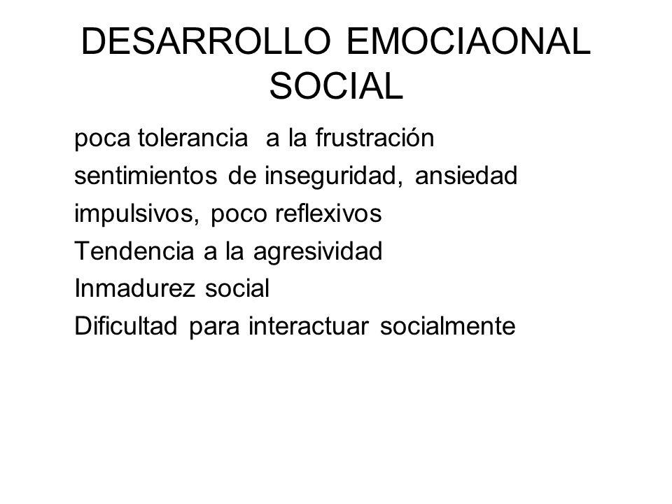 DESARROLLO EMOCIAONAL SOCIAL