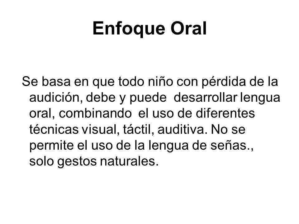 Enfoque Oral