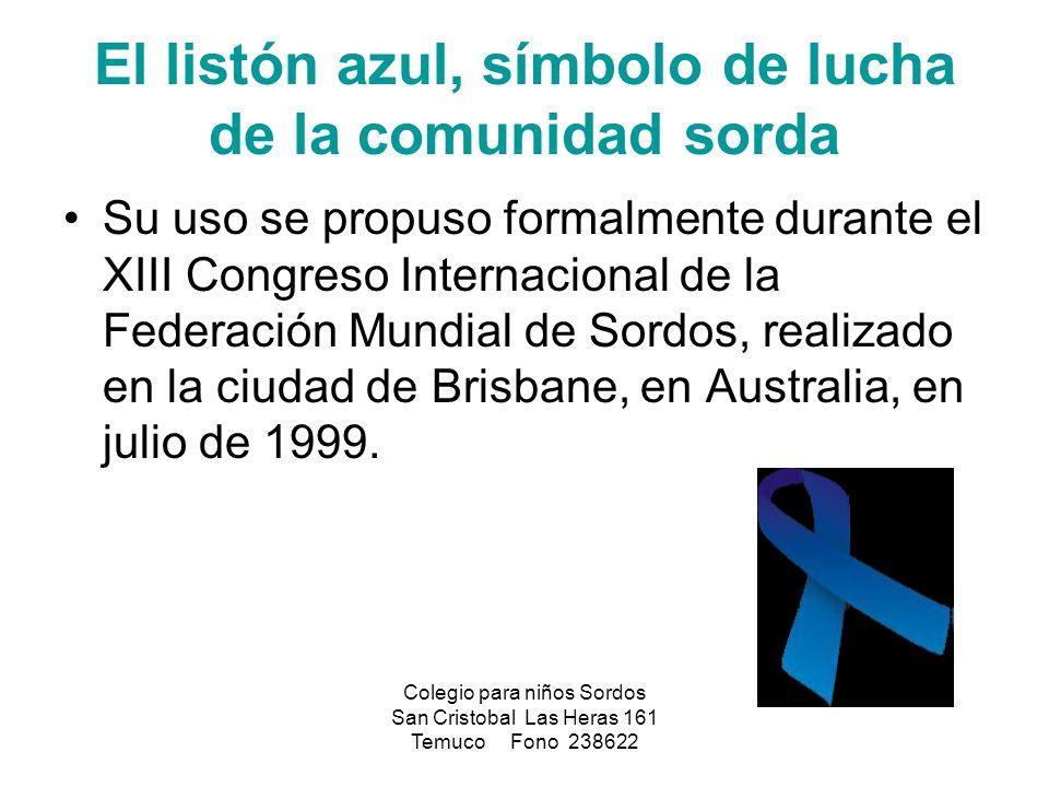 El listón azul, símbolo de lucha de la comunidad sorda