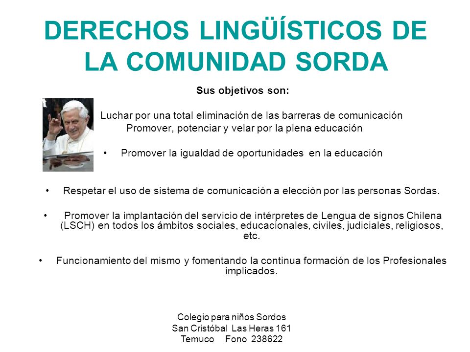 DERECHOS LINGÜÍSTICOS DE LA COMUNIDAD SORDA