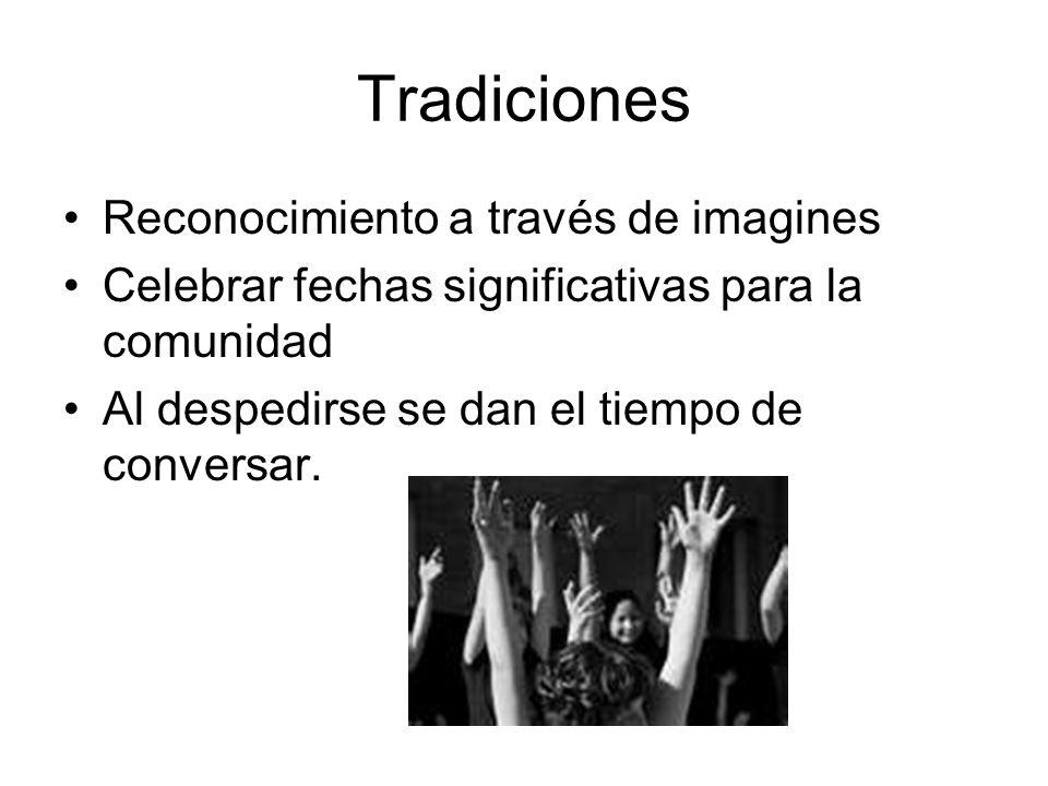Tradiciones Reconocimiento a través de imagines