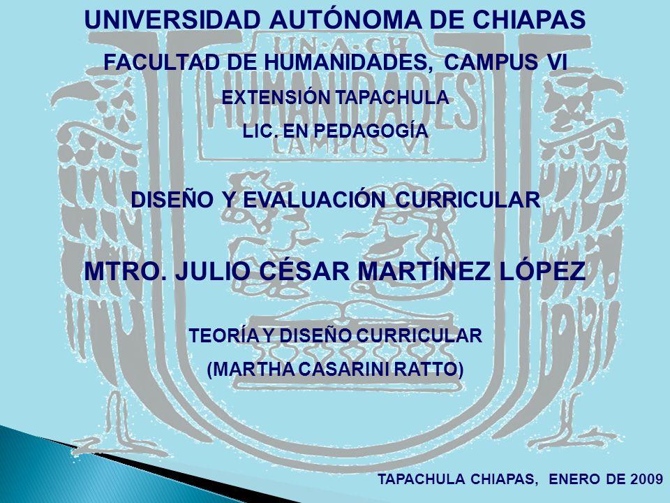 UNIVERSIDAD AUTÓNOMA DE CHIAPAS MTRO. JULIO CÉSAR MARTÍNEZ LÓPEZ