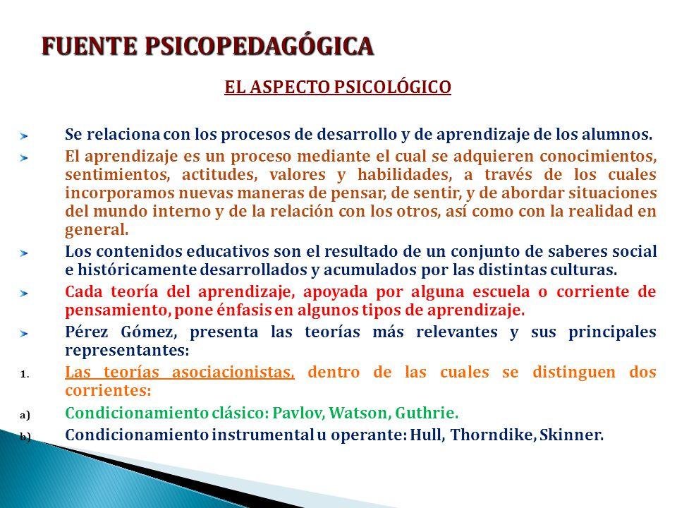 FUENTE PSICOPEDAGÓGICA
