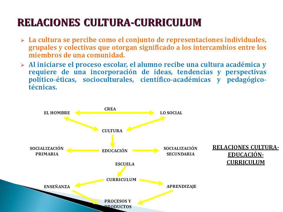 RELACIONES CULTURA-CURRICULUM