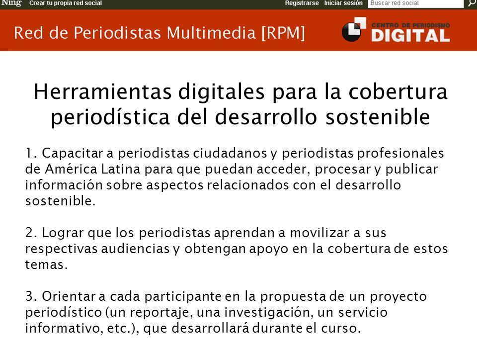 Herramientas digitales para la cobertura periodística del desarrollo sostenible