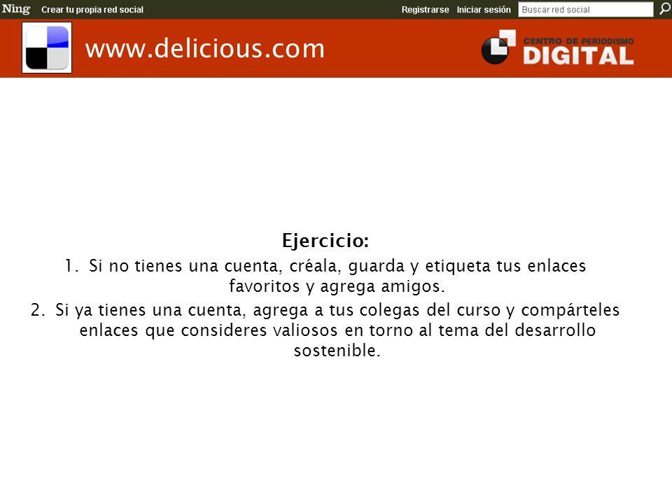 www.delicious.com Ejercicio: