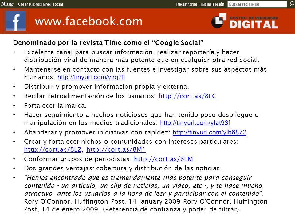 www.facebook.com Denominado por la revista Time como el Google Social
