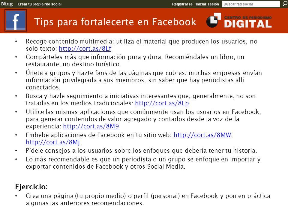 Tips para fortalecerte en Facebook