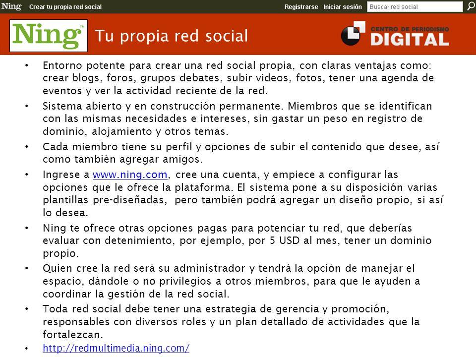 Tu propia red social