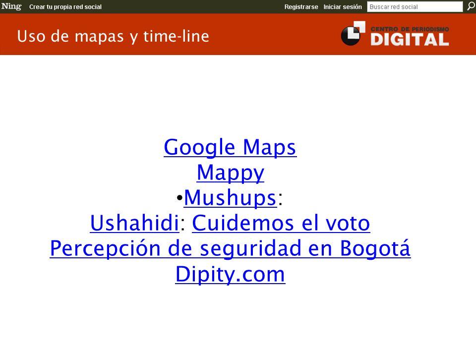 Ushahidi: Cuidemos el voto Percepción de seguridad en Bogotá