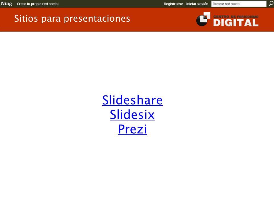 Sitios para presentaciones