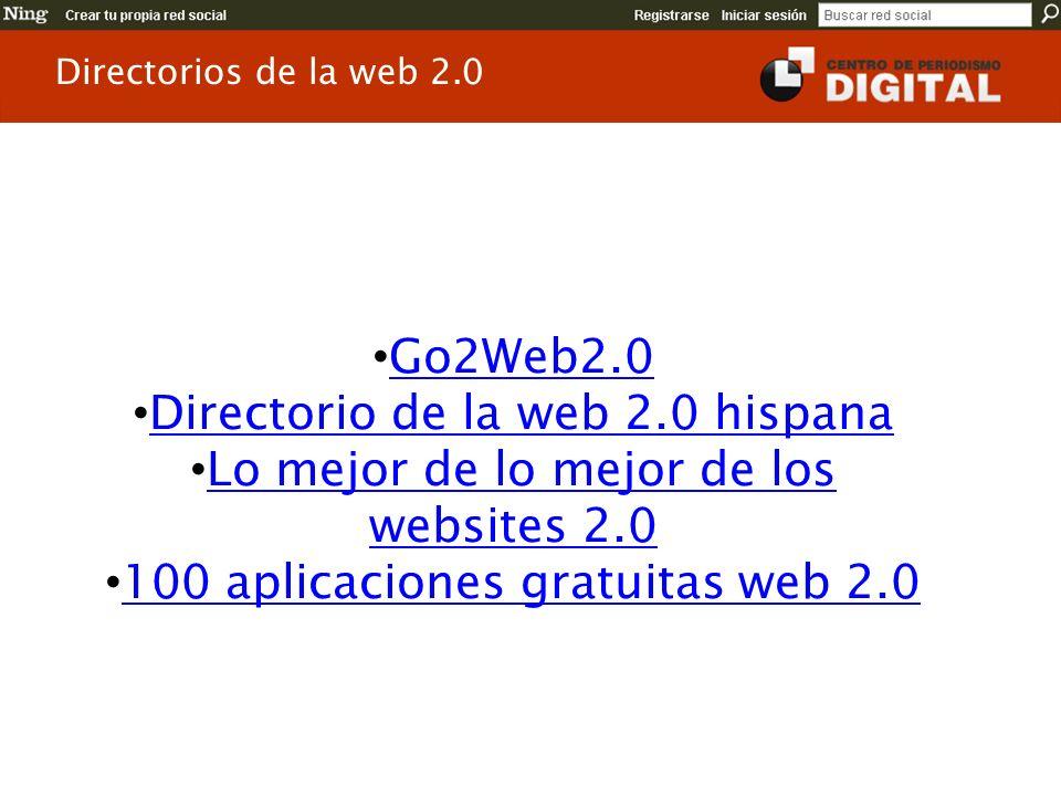 Directorio de la web 2.0 hispana