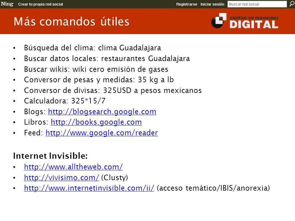 Más comandos útiles Internet Invisible: