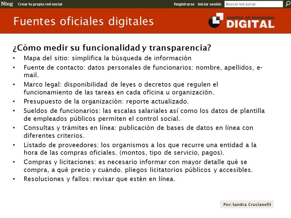 Fuentes oficiales digitales