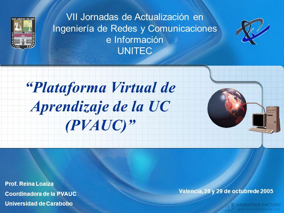 Plataforma Virtual de Aprendizaje de la UC (PVAUC)